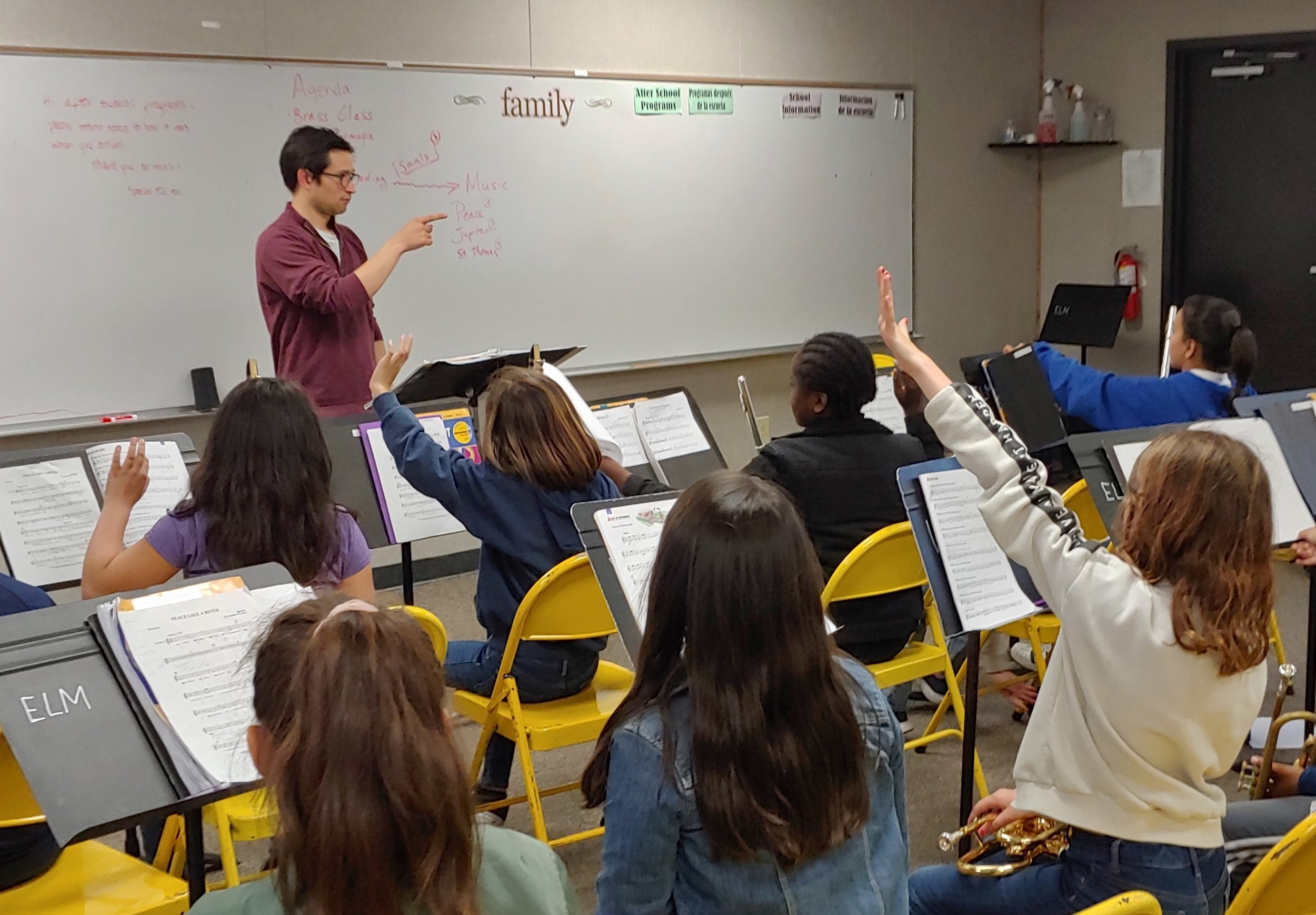 Musicianship is an important element of music education at ELM