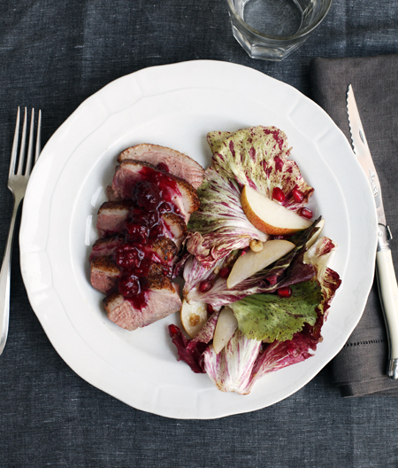 Duck, Crispy Shaken Potatoes and Radicchio Salad
