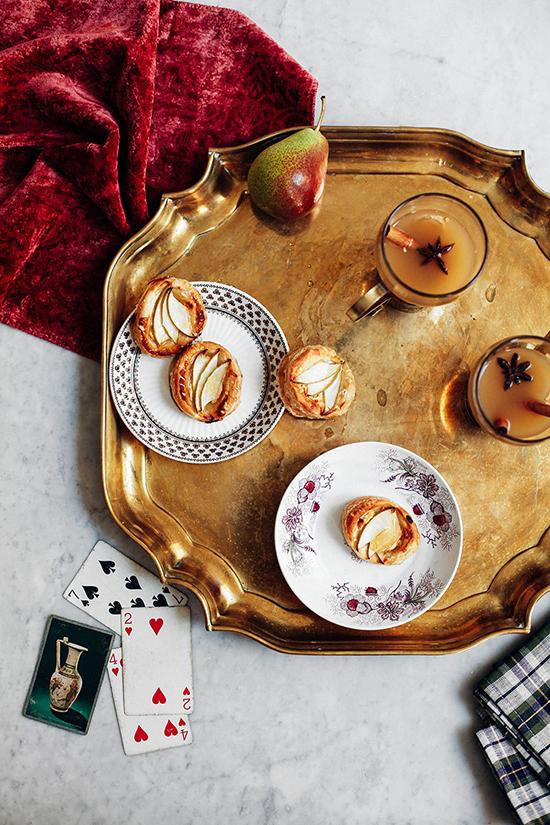 Apple Tarts and Ginger Apple Pear Cider for Lonny Magazine