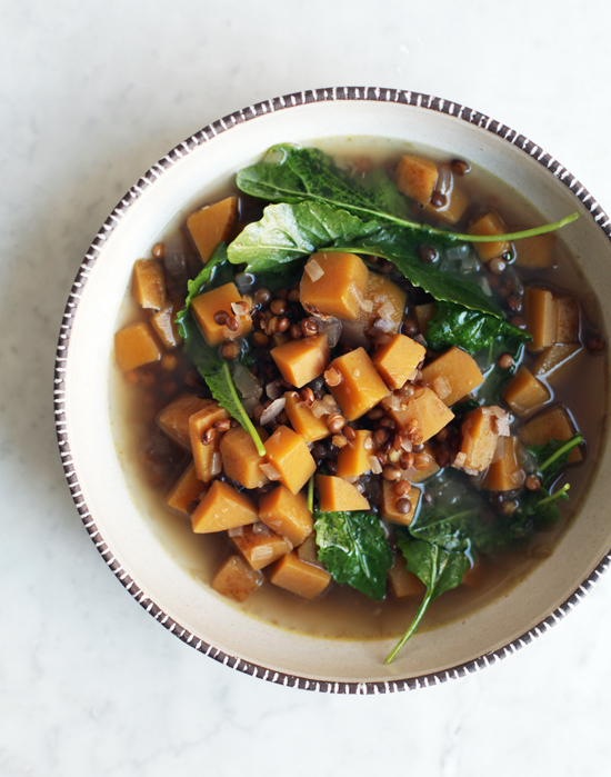 Spiced Squash and Lentil Soup @jewelsofny