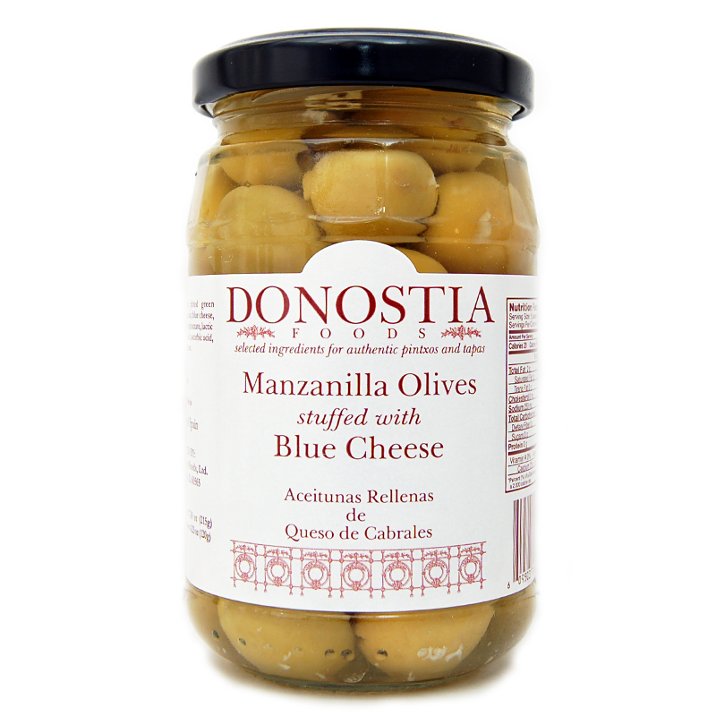 Manzanilla Olives stuffed with Blue Cheese