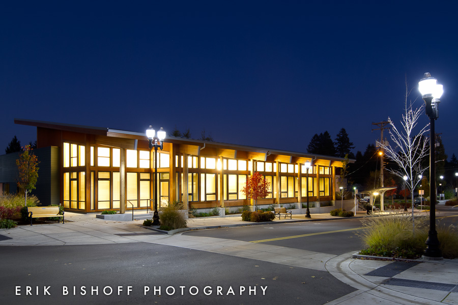 "Example of a ""Mild HDR"" image. The Fern Ridge Service Center. Veneta, Oregon."