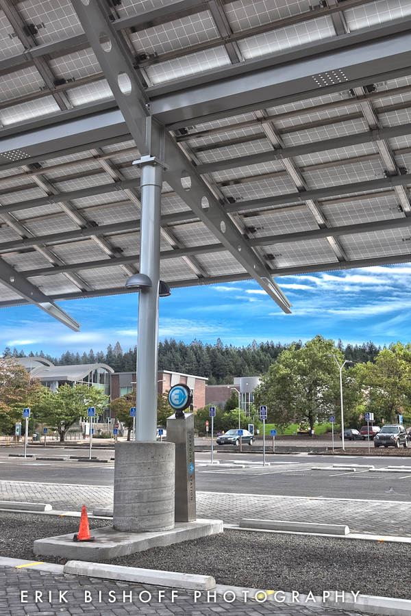 LCC Solar Array photographed for Essex Construction by Erik Bishoff Photography - Architecture Photographer in Eugene Oregon.