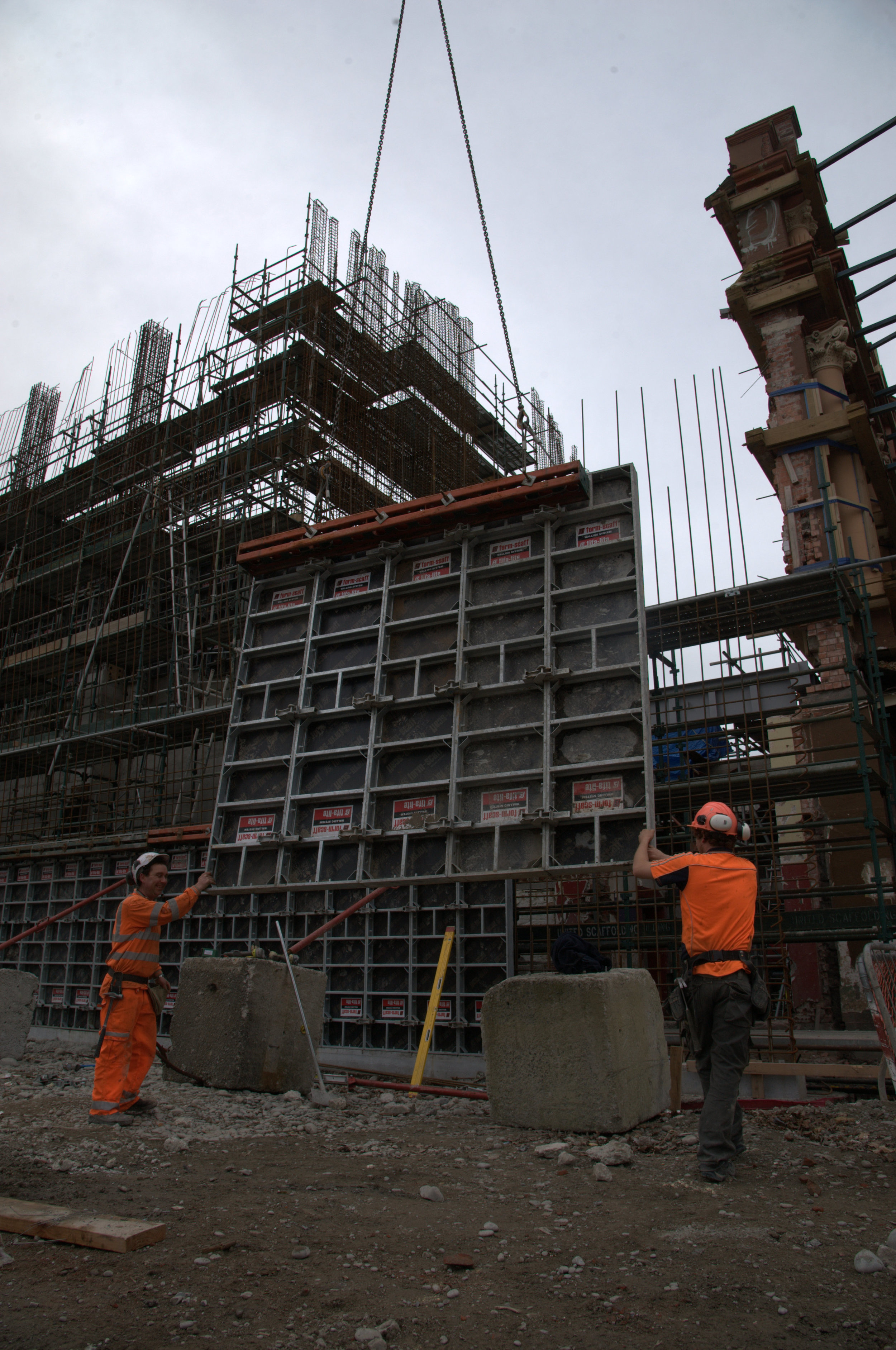 Isaac Theatre Royal. Concrete panel erection for Naylor Love