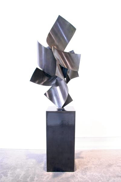 BIG TOP #4, 2012, steel with patina, 80H x 30W x 30D