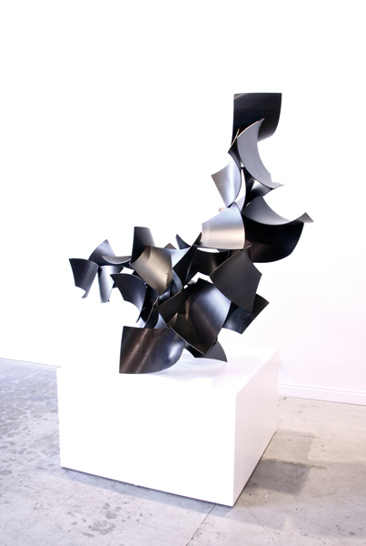 DRAGON DANCE, 2013, steel with patina, 47H x 58W x 26D