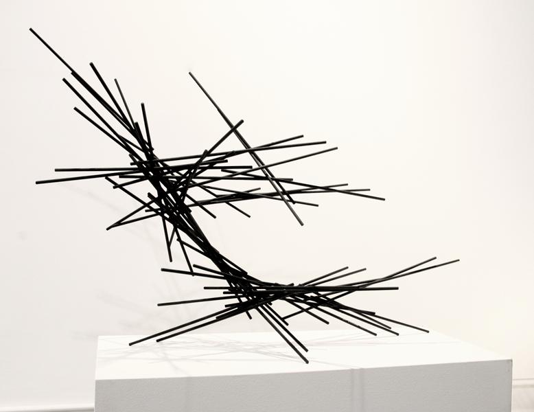 LA BREA, 2011, steel with tar, 29H x 40W x 21D