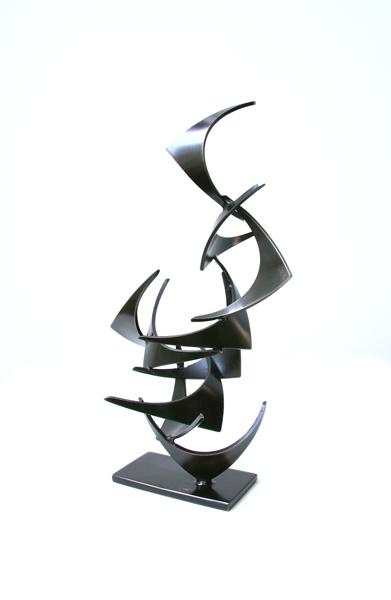 MINI MOLLIE, 2012, steel with patina, 12H X 5W X 4D