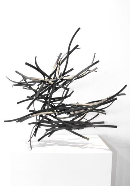 UNBRIDLED, 2012, steel with tar, 27H x 29W x 14D