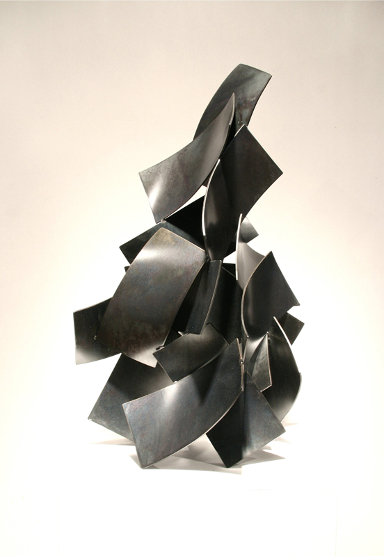 AMBLE, 2013, steel with patina, 29H x 16W x 12D