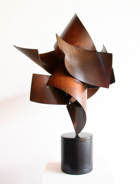 BIG TOP #3, 2011, steel with patina, 31H x 19W x 16D