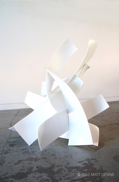 ONE NINE ONE, 2012, aluminum with powdercoat, 79H x 78W x 55D