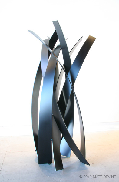 ON THE LEFT SIDE, 2012, aluminum with powdercoat, 84H x 44W x 36D