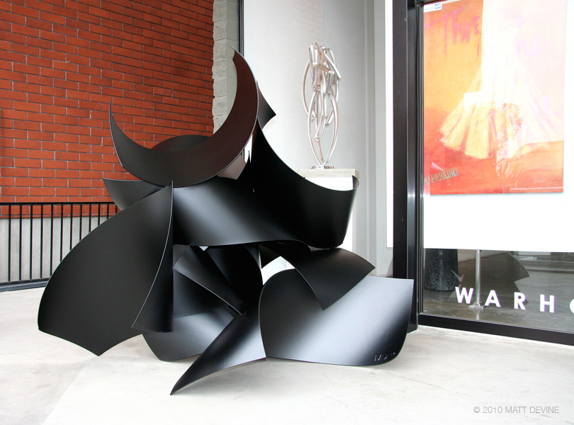 MY FRIEND CHRISTOPHER, 2010, aluminum with powdercoat, 62H x 72W x 48D