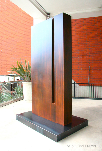 UNDIVIDED, 2011, stell with patina, 108H x 54W x 12D