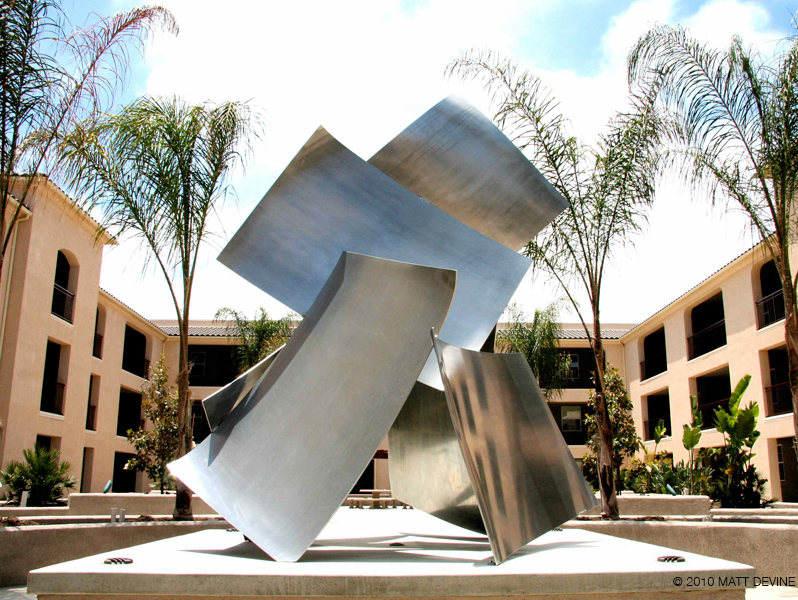 THE DANCE, 2012, Aluminum, 118H x 120W x 109D, Greenfield Communities, San Diego, California