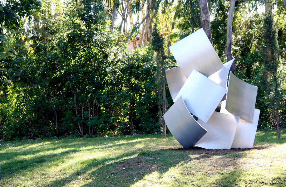 THE TURN, 2009, Aluminum, 100H x 75W x 65D, private residence, Rancho Santa Fe, California