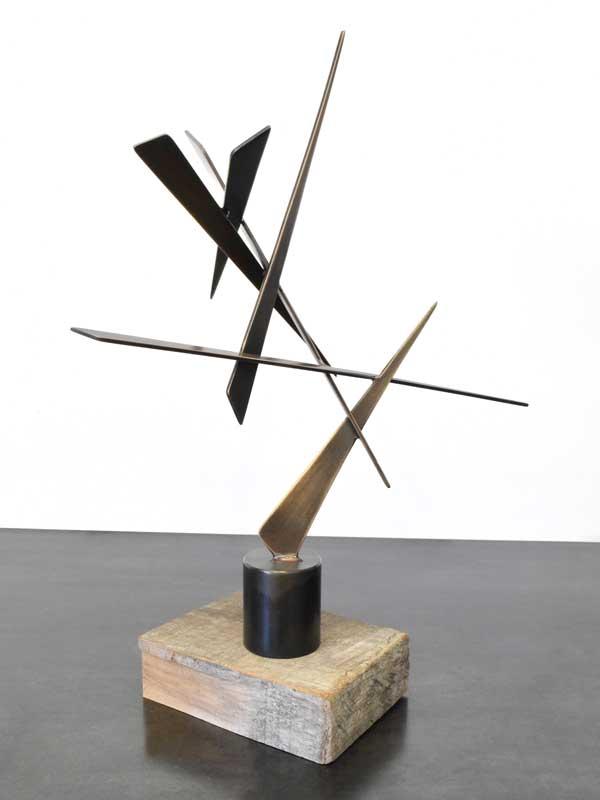 EDWARD #9, 2015, 16H x 13W x 6D, Bronze with steel base