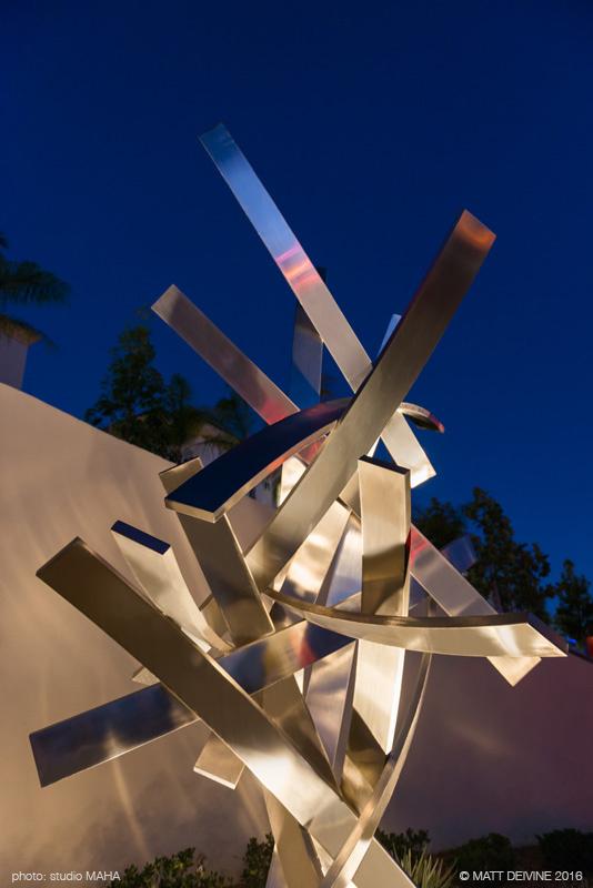 ARRIBA, 2016, Casa Mira View, San Diego, CA, stainless steel, 17'H x 9'W x 8'D