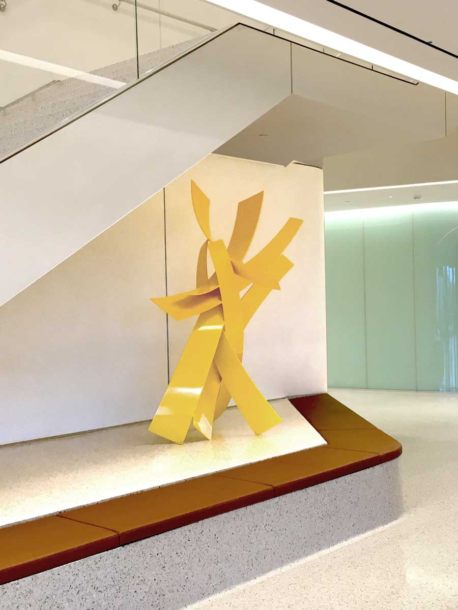 HELLO SUNSHINE, 2016, Jacobs Medical Center, La Jolla, CA, aluminum with powdercoat, 90H x 68W x 53D