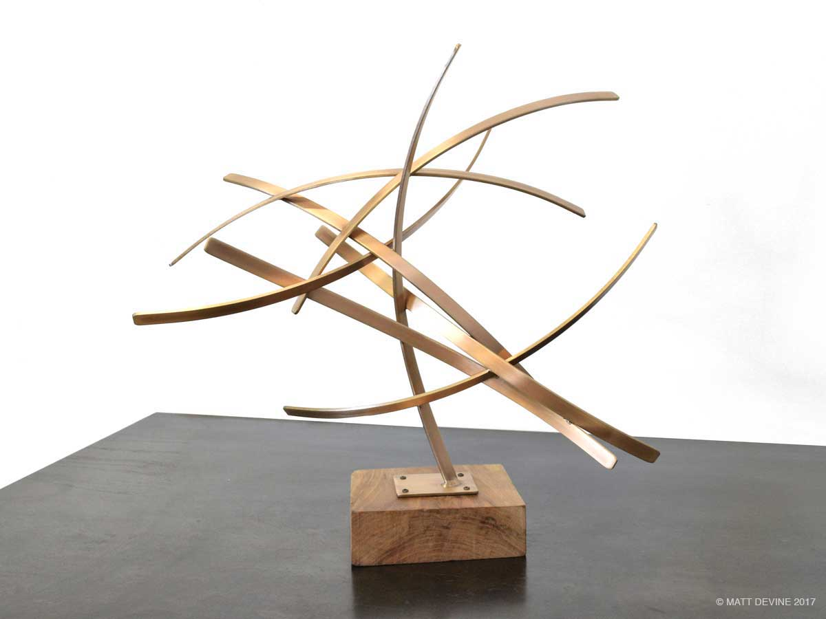 UNTITLED BRONZE PEDESTAL, 2016, bronze with wood base, 17H x 18W x 8D