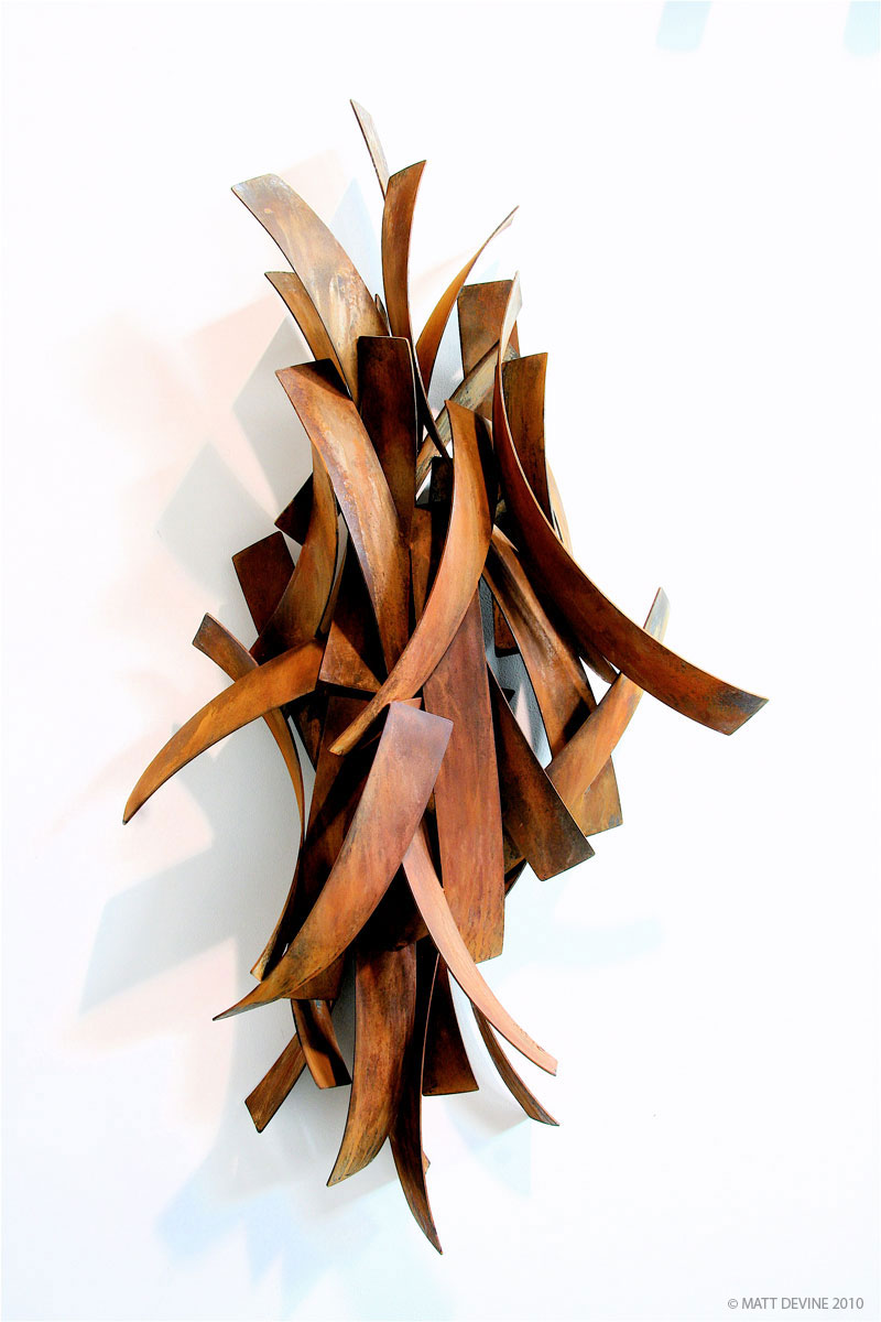 THE HARVEST, 2010, steel with patina, 60H x 31W x 11D