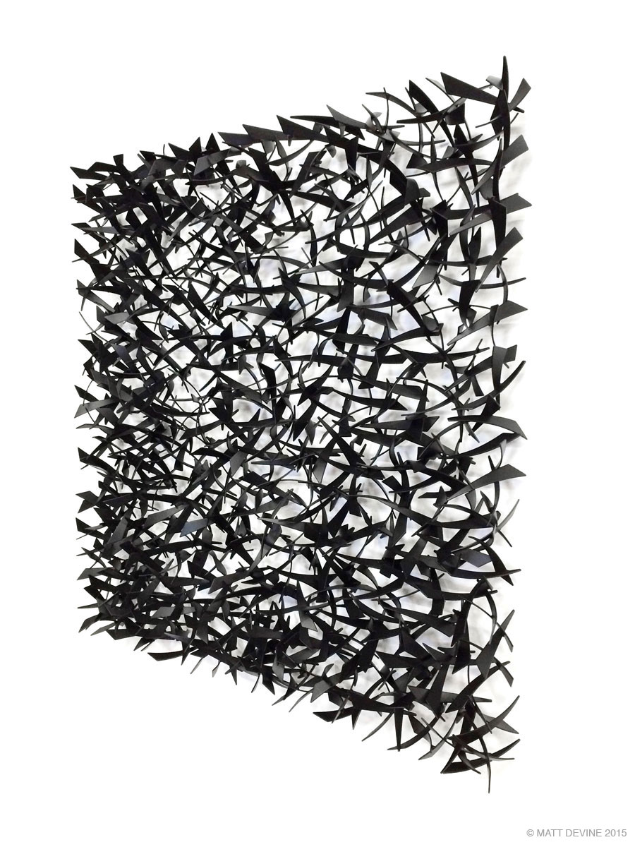 FUNHOUSE, 2015, steel with powdercoat, 48H x 48W x 6D