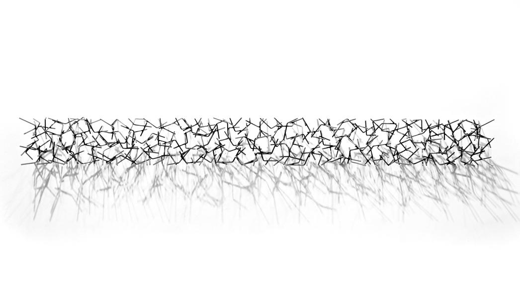 REVERSION #2, 2013, steel with black powder coat, 8H x 80W x 6D
