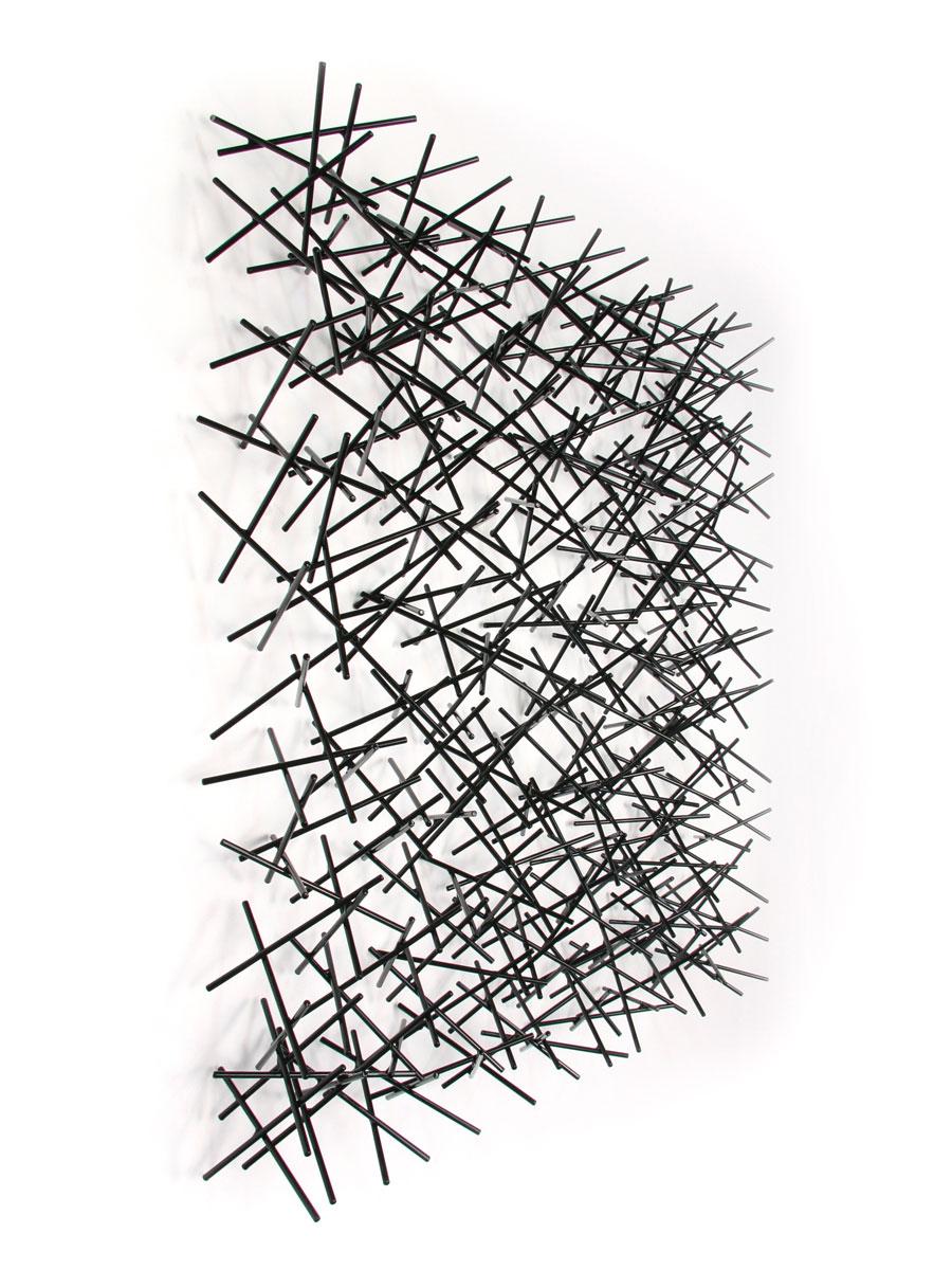 LA LUZ #6, 2014, steel with black powdercoat, 32H x 32 W x 6D