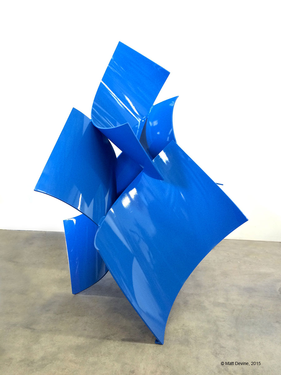 OUTWARD BOUND, 2015, aluminum with powder coat, 78 x 48 x 55 in.