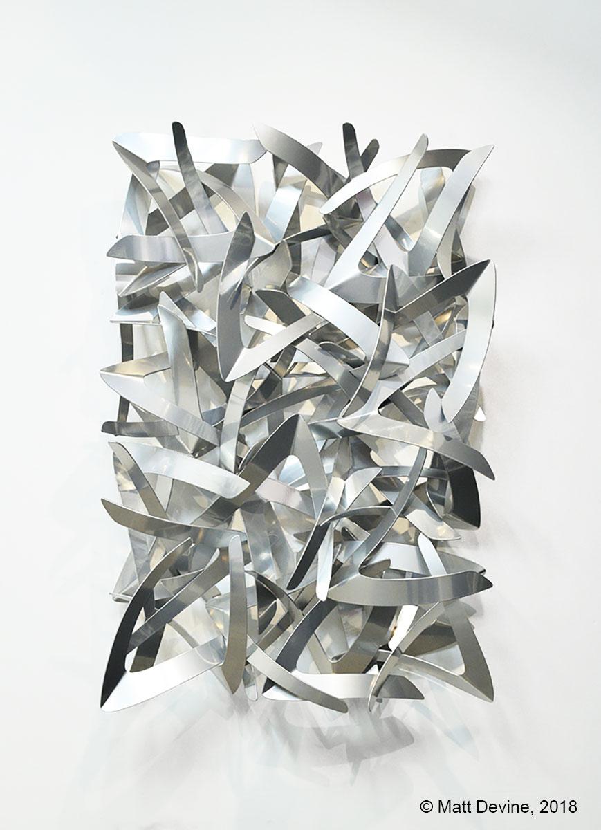 MIRROR, MIRROR, 2018, aluminum with chrome powder coat, 48 x 32 x 8 in.