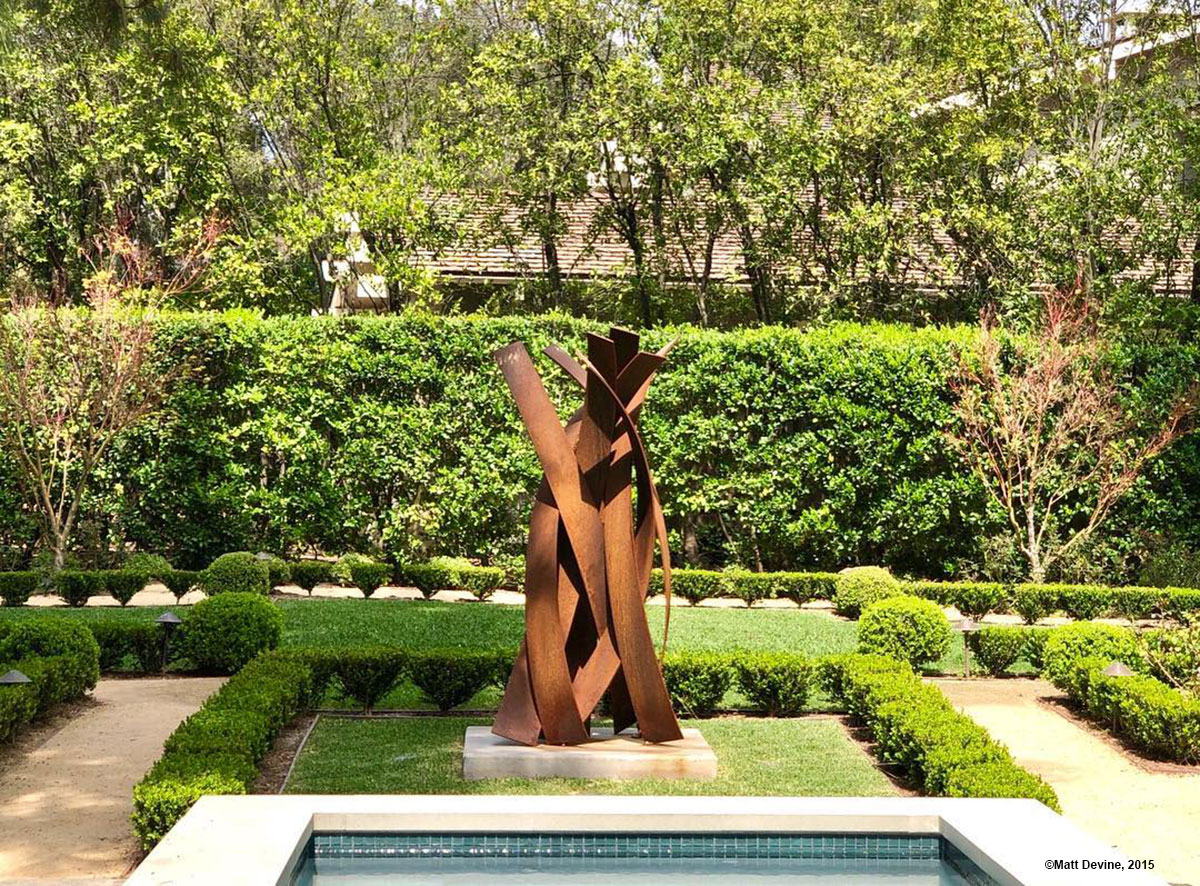 BRISAS #16, 2015, corten steel, 84H x 38W x 38D in, private residence, California