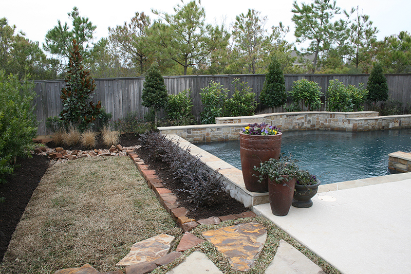 native-pool-planting-with-bottlebrush,-loropetalum,-blueberry,-viburnum,-magnolia,-grasses,-flagstone,-moss-rock-and-dry-river-bed-Spring-Texas.jpg