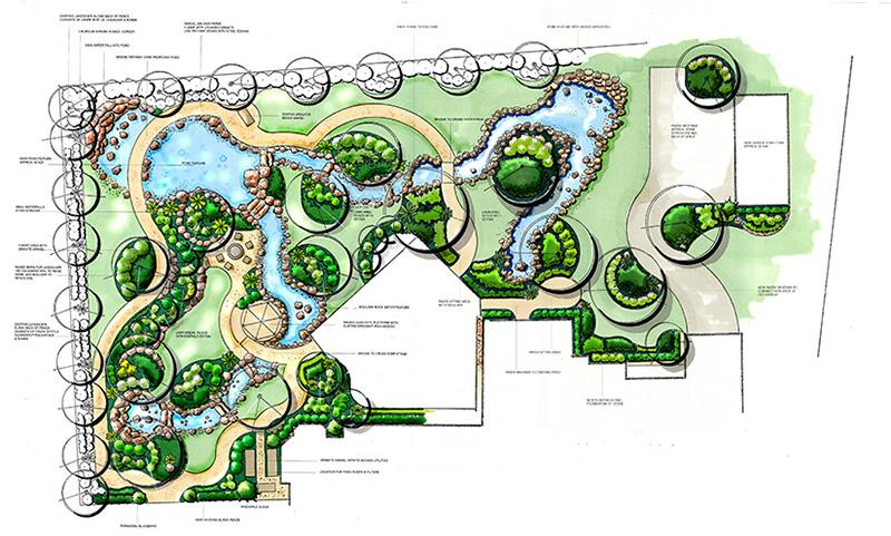 Landscape Design Drawing Woodlands, Tx