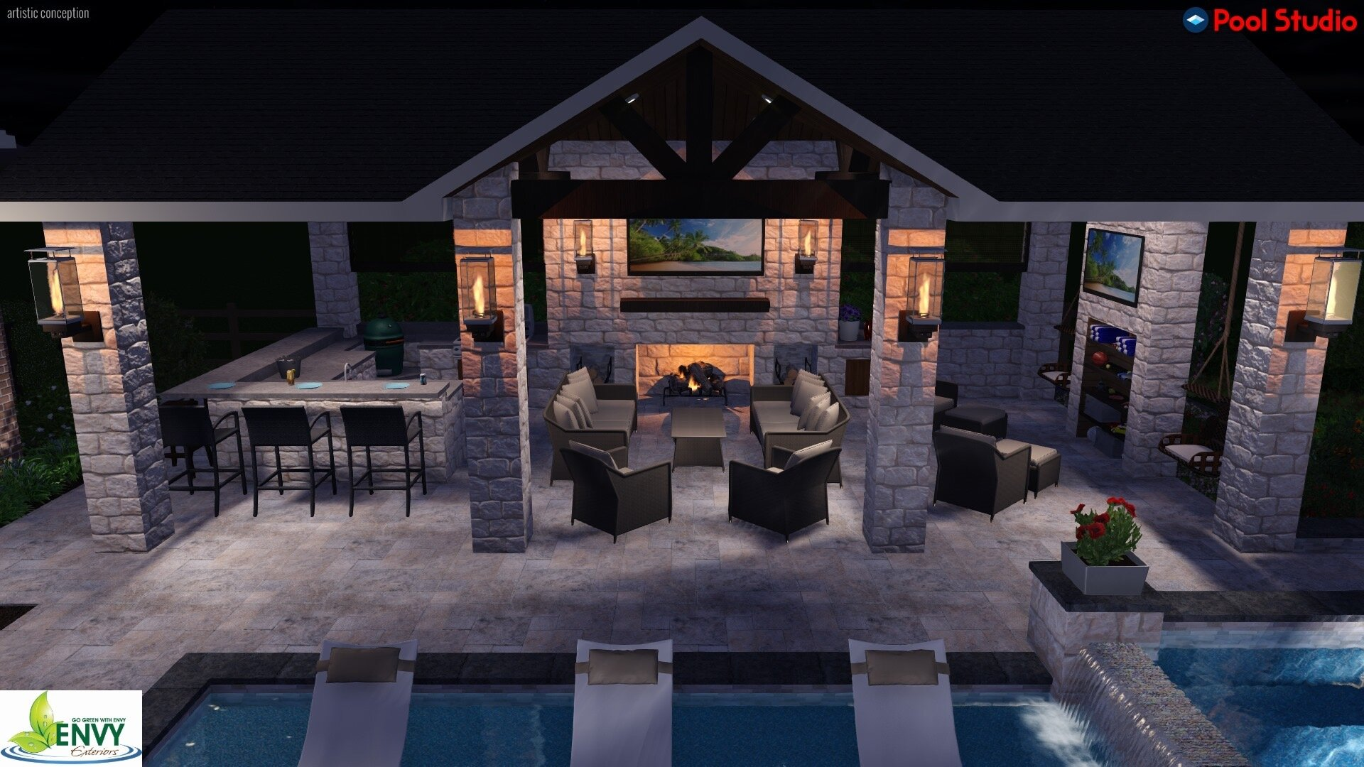 Outdoor Kitchen The Woodlands Tx Montgomery Conroe Tomball Magnolia Envy Exteriors