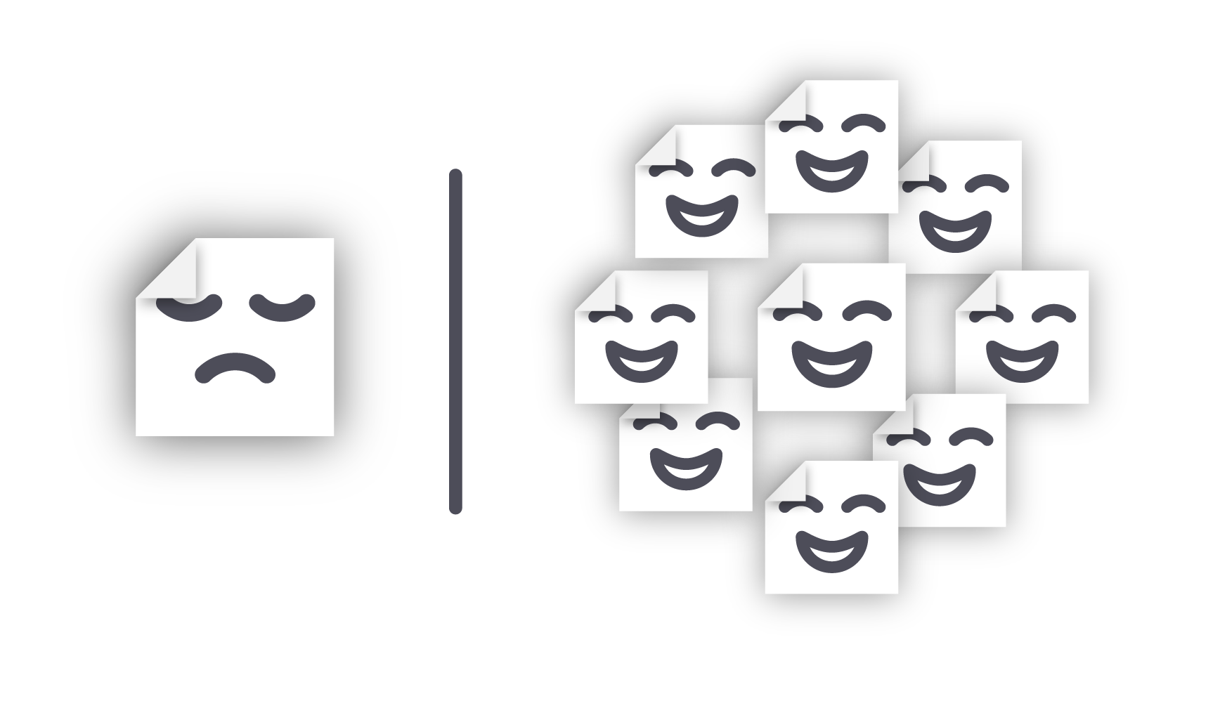 One file is sad, but many files together are happy!