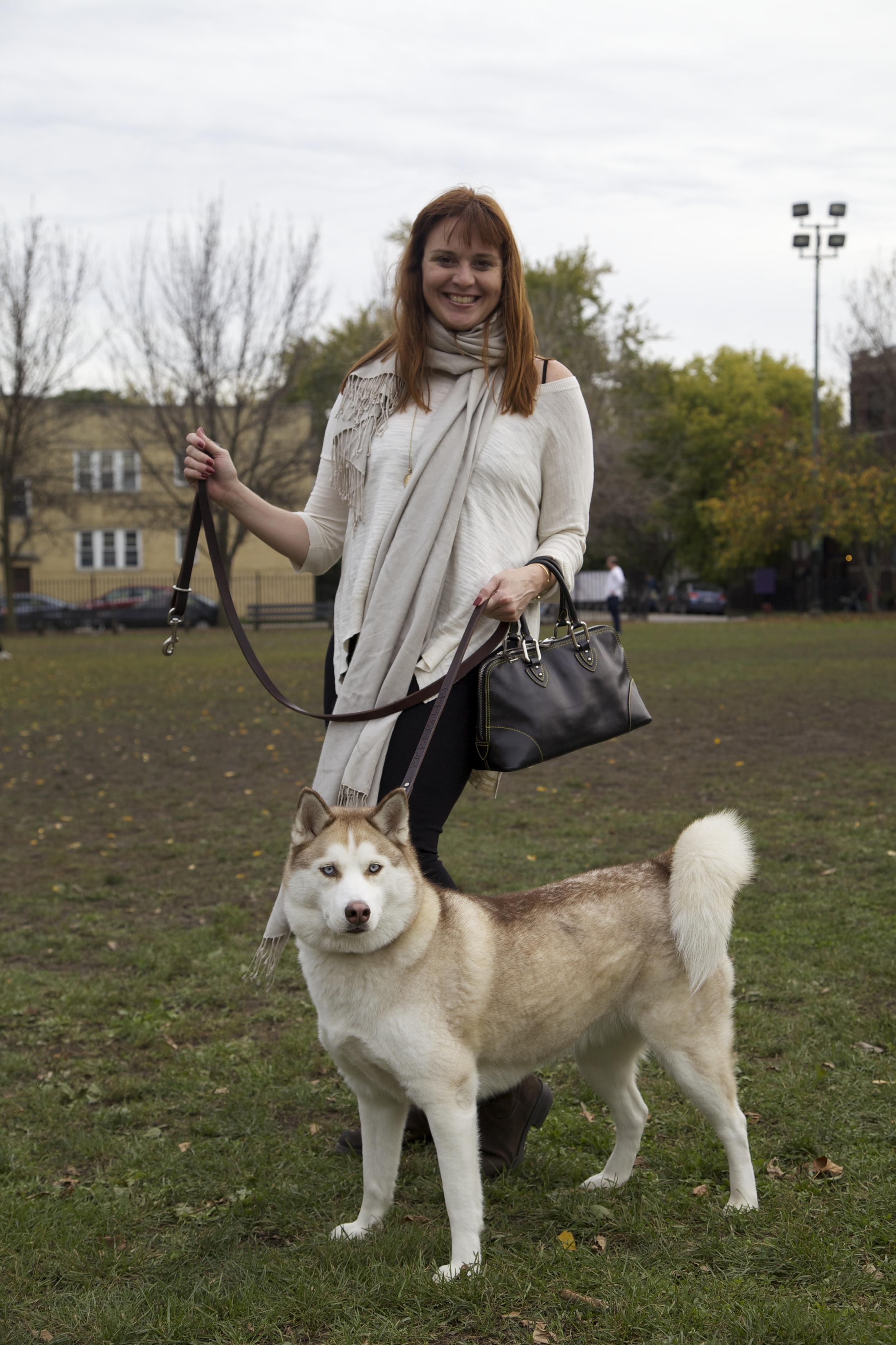 Alexandra in cream; Sonya, borrowed, in fur.