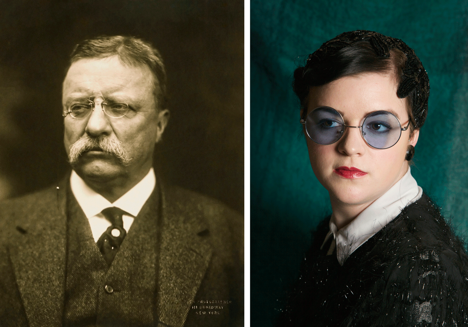 """Speak softly and always carry red lipstick."" - Liza as Theodore Roosevelt"