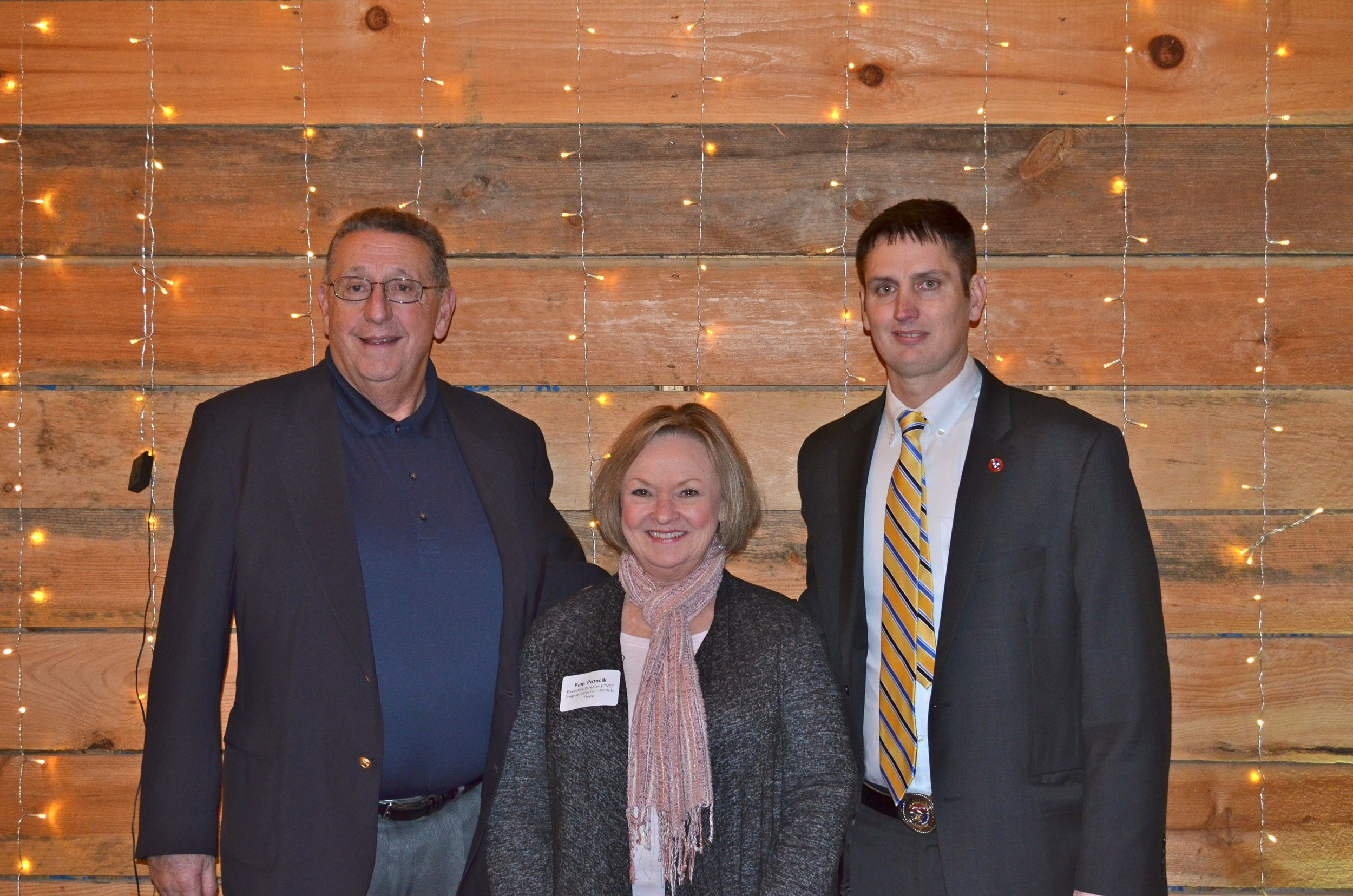 Kent Calfee, Pam Potocik, and Lowell Russell