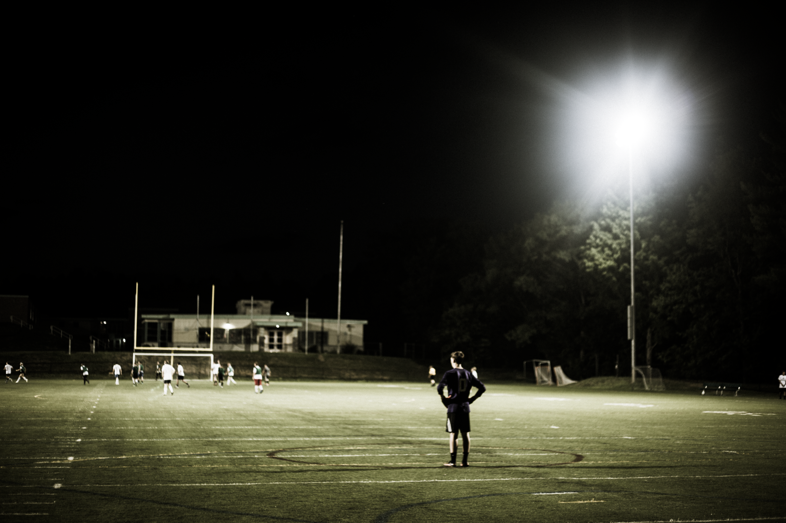 Goalie in the Lights