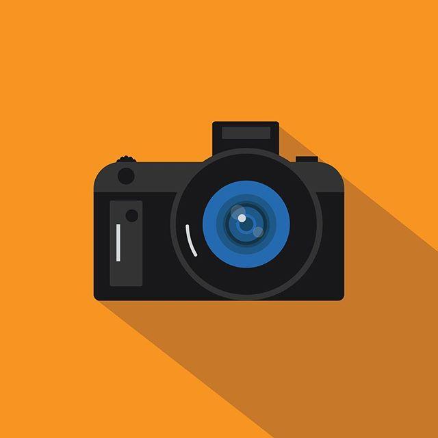Tools of the Trade (2 of 3): Camera . . . #art #design #vectorart #graphic #shadows #blue #computers #keyboard #flatdesign #illustrator #adobeillustrator #adobe #photoshop #keys #sunday #graphics #camera #nikon #sony #canon