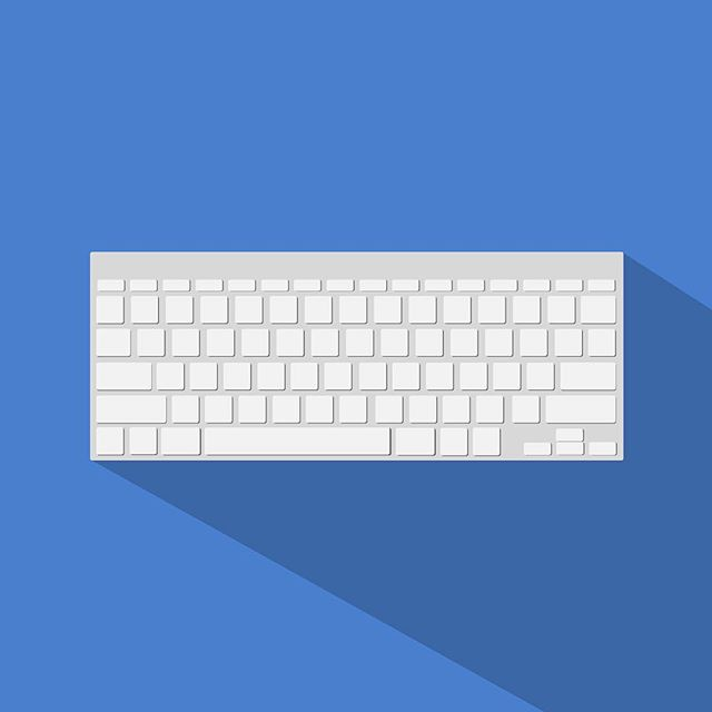 Tools of the Trade (1 of 3): Keyboard . . . #art #design #vectorart #graphic #shadows #blue #computers #keyboard #flatdesign #illustrator #adobeillustrator #adobe #photoshop #keys #sunday #graphics