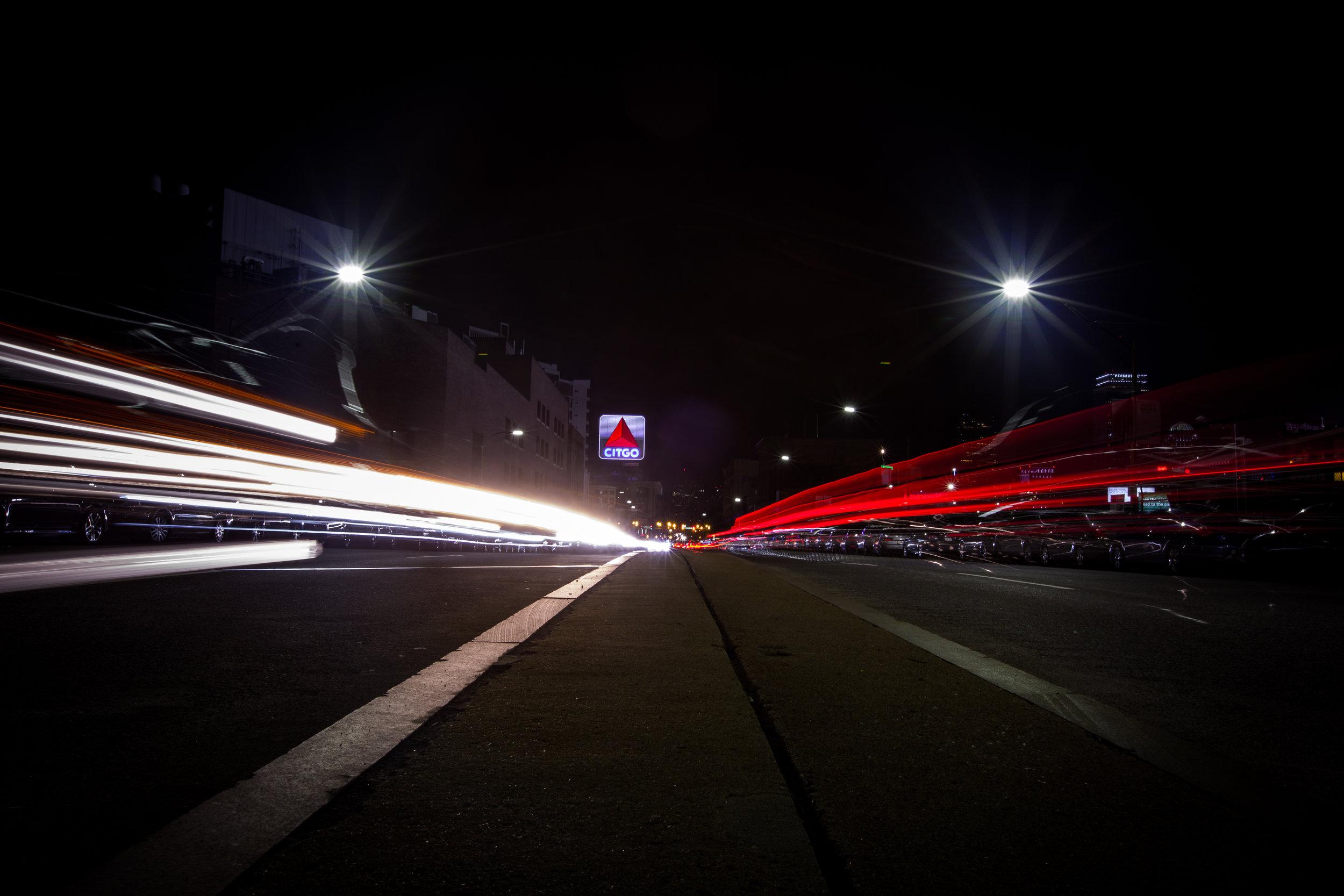 Light Streaks to the Citgo Sign