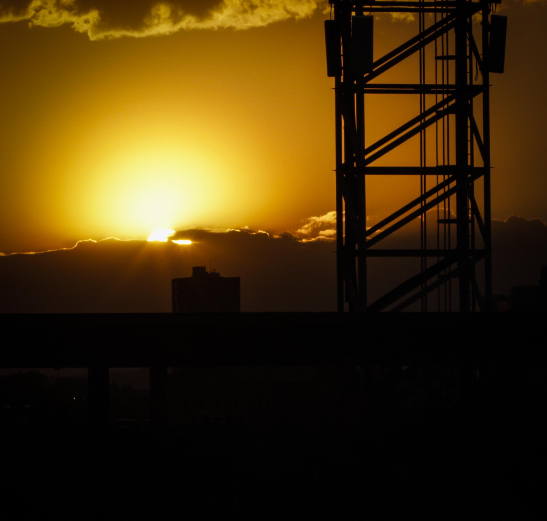 Sunset Beyond the Light Tower