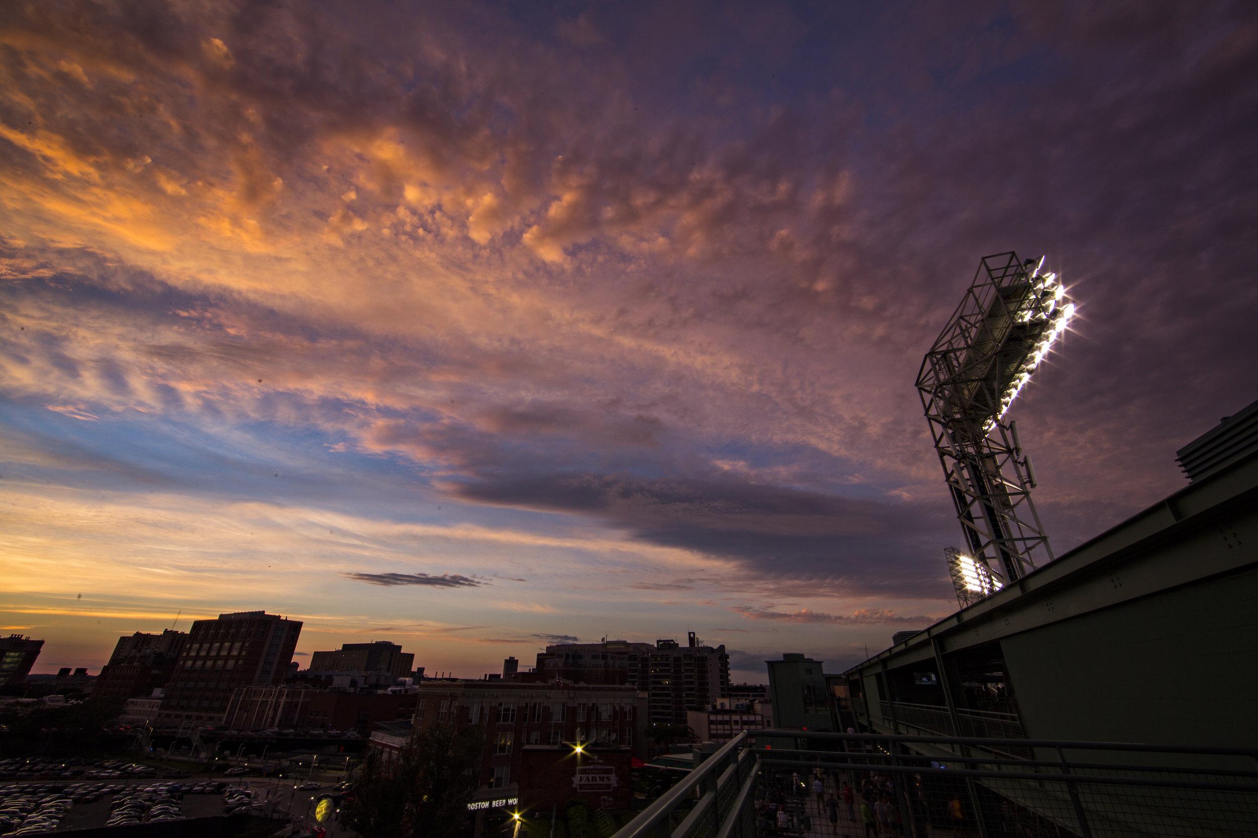 Sunset over Light Tower
