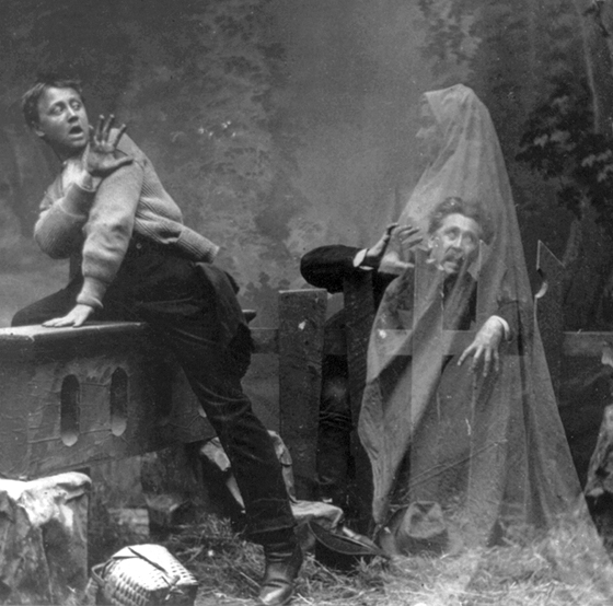 (old Victorian 'ghost photography')