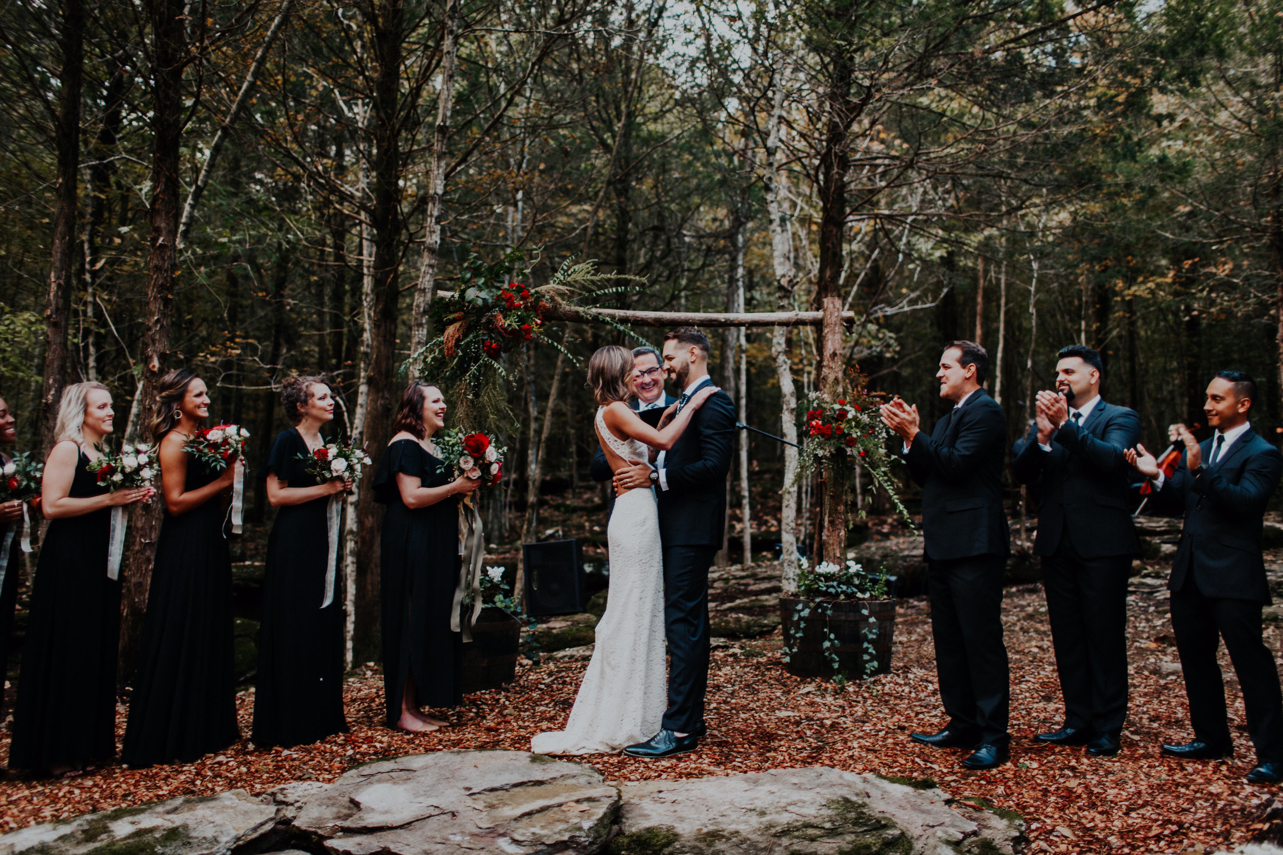 Spring, Summer or Fall, a wedding in the forest is a treat for you and your guests.