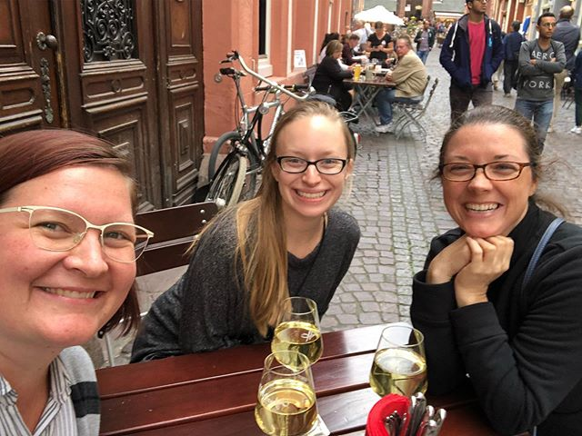 We made it to Heidelberg!  I think Christina is happy with her welcome gift ;)