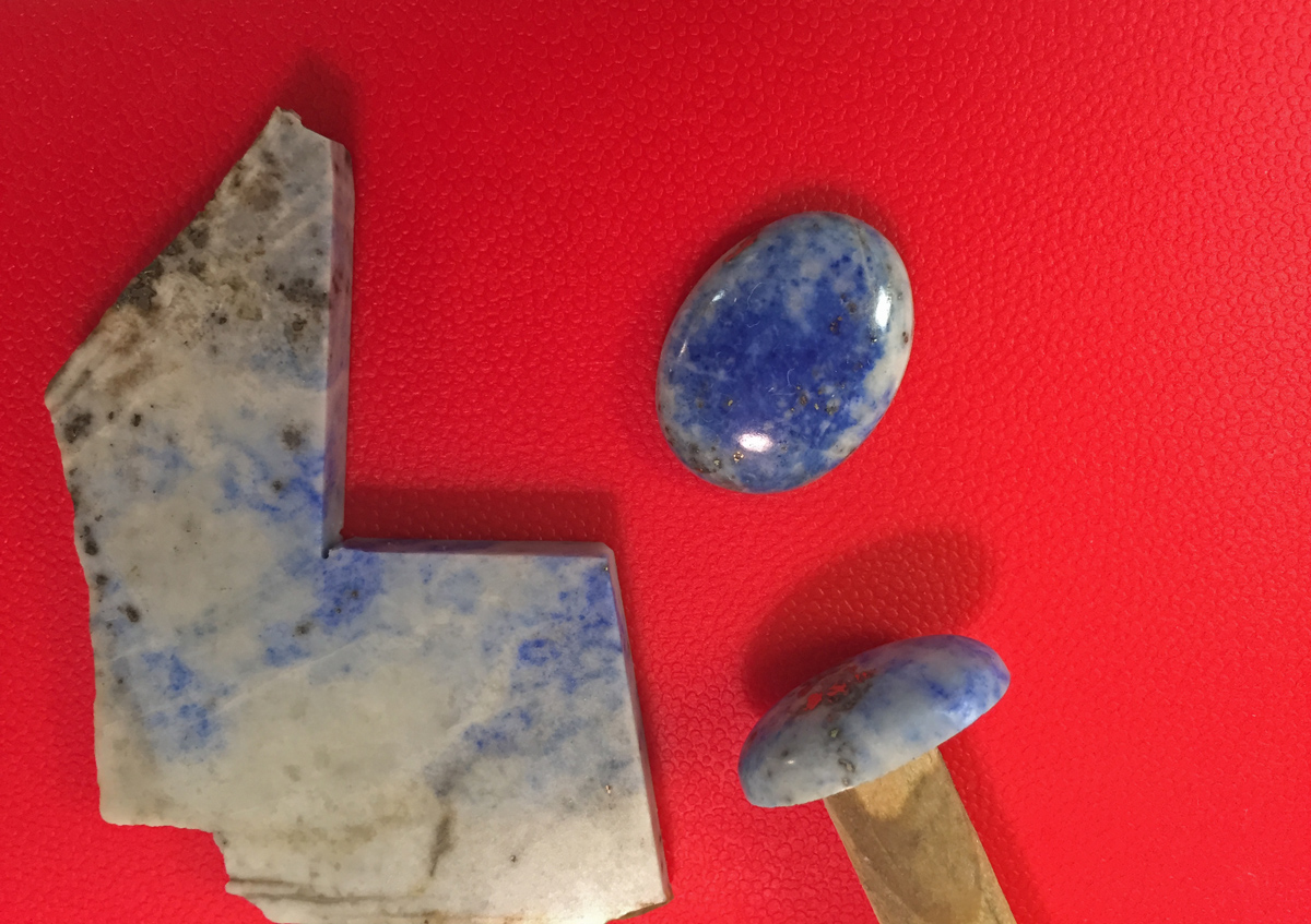 Dr. Lorentzen has recently been working with raw stone.
