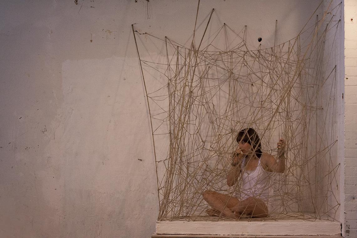 string sculpture web twine